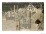 View of a Coastal City Giclee Print by Ambrogio Lorenzetti