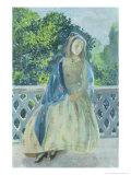 Girl on Balcony, 1900 Giclee Print by Viktor Elpidiforovich Borisov-musatov