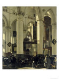 Interior of a Church Giclee Print by Emanuel de Witte