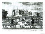 The Chateau de Chantilly and the Gardens Designed by Andre Le Notre Giclee Print by Adam Perelle