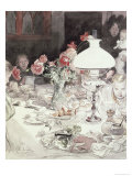 Around the Lamp at Evening, 1900 Giclee Print by Carl Larsson