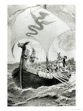 Viking Raiders Giclee Print by Archibald Webb