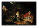 Cordelia and King Lear Giclee Print by Robert Alexander Hillingford