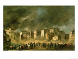 The Fire at San Marcuola Giclee Print by Francesco Guardi