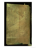 Goddess Isis, Inside of One of the Double Doors of the Third Gilded Shrine, Tomb of Tutankhamun Reproduction procédé giclée par Egyptian 18th Dynasty