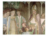 Queen Theodolinda and Pope Gregory the Great Giclee Print by  Zavattari Family