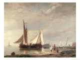 Harbour Scene Giclee Print by Hermann Koekkoek