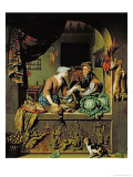 Woman and a Fish Peddler, 1713 Giclee Print by Willem Van Mieris