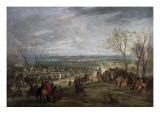 The Siege of Valenciennes, 1677 Giclee Print by Adam Frans van der Meulen
