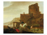 Rider and Bather Giclee Print by Philips Wouwermans Or Wouwerman