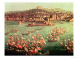 The Fleet of King Charles III Giclee Print by Antonio Joli
