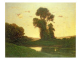View in the Campagna Giclee Print by Henri-Joseph Harpignies
