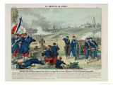 Defeat of the Rebels Entrenched in the Cemetery of Pere Lachaise and on Chaumont Hill, 1871 Giclee Print by Charles Francois Pinot