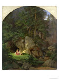Genoveva in the Wood Clearing, 1839-41 Giclee Print by Ludwig Adrian Richter