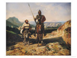 Don Quixote and Sancho Giclee Print by Alexandre Gabriel Decamps