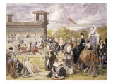 The Races at Longchamp in 1874 Giclee Print by Pierre Gavarni