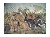 The Alexander Mosaic, Detail Depicting the Darius III Giclee Print by  Roman