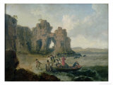 Castle Rock Giclee Print by Julius Caesar Ibbetson