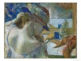 In Front of the Mirror, 1889 Reproduction procédé giclée par Edgar Degas