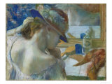 In Front of the Mirror, 1889 Giclee Print by Edgar Degas
