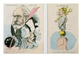Caricatures of Victor Hugo Giclee Print by Faustin