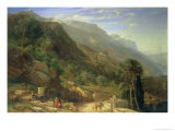 Olive Groves at Varenna, Lake Como, Italy, 1861 Giclee Print by Frederick Lee Bridell