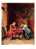 The Chess Players, 1856 Giclee Print by Jean-Louis Ernest Meissonier