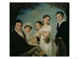 The Boratynsky Family, 1816 Giclee Print by Karl Wilhelm Bauerle