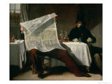 Waiting For the Times, 1831 Giclee Print by Benjamin Robert Haydon