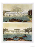 Niagara Falls, 1818 Giclee Print by L.a. Rossi