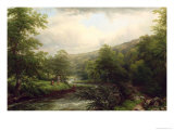 Fishing on the Dee, 1861 Giclee Print by Thomas Baker