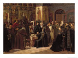 The Solovetsy Monastery's Revolt Against the New Books in 1666, 1885 Giclee Print by Sergei Dmitrievich Miloradovich