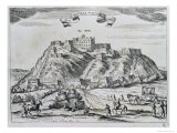 View of Lhasa, Capital of Tibet, from China Monumentis, Printed in Amsterdam in 1667 Giclee Print by Atanasio Kirchen