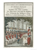 Council of Five Hundred, Costumes of the Representatives of the French People, Engraved Labrousse Giclee Print by Sauveur Legros Or Le Gros