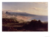 Taormina and Etna, c.1840 Gicl&#233;e-Druck von Carl Rottmann