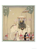 Imperial Procession Giclee-trykk av Georges Barbier