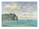 The Cliffs at Etretat, 1890 Impression giclée par Eugène Boudin