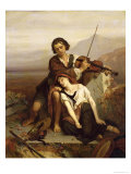 Comfort in Grief, c.1852 Reproduction proc&#233;d&#233; gicl&#233;e par Louis Gallait