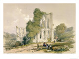 Rievaulx Abbey, East Front, from &#39;The Monastic Ruins of Yorkshire&#39;, Engraved by George Hawkins Giclee Print by William Richardson