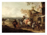 The Falconers Giclee Print by Pieter Wouwermans Or Wouwerman