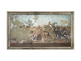 The Alexander Mosaic, Depicting the Battle of Issus Between Alexander the Great Giclee Print by  Roman