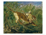 Tiger in the Jungle, 1917 Giclee Print by Max Slevogt