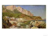 Fishing Village at Capri Giclee Print by Louis Gurlitt
