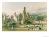 Sawley Abbey, from &#39;The Monastic Ruins of Yorkshire&#39;, Engraved by George Hawkins Giclee Print by William Richardson