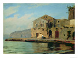 Beach House at Sorrento Giclee Print by Louis Gurlitt