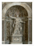 Statue of St. Longinus, at the Base of the Four Pillars Supporting the Dome, 1631-38 Giclee Print by Giovanni Lorenzo Bernini