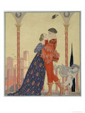 Lovers on a Balcony Giclee Print by Georges Barbier