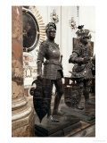 King Arthur, Statue from the Tomb of Maximilian I, Innsbruck, 1513 Giclée-Druck von Peter Vischer