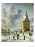 The City Gate of Hoorn Giclee Print by Jan Abrahamsz. Beerstraten