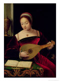 Mary Magdalene Playing the Lute Giclee Print by  Master of the Female Half Lengths